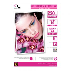 Glossy Paper Adesivo 220g A4 – Multilaser PE001